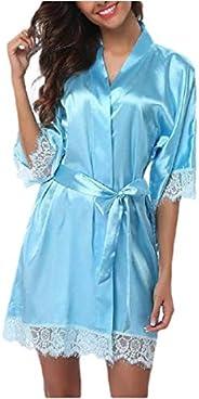 ShuangRun Women's Lichtgewicht Kimono Robes Robe Short Bathrobe Soft Sleepwear Lounge
