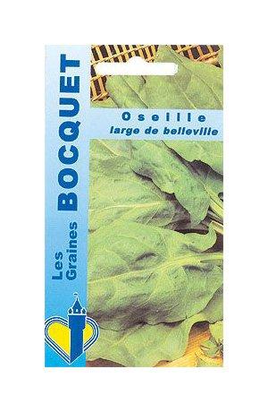 Les Graines Bocquet - Graines De Oseille Large De Belleville - Graines Potagères À Semer - Sachet De 3Grammes