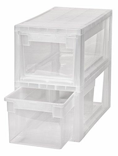 2 Stück Schubladenboxen mit Nutzvolumen 7 Liter pro Box. Passend für z.B. Socken, Krawatten, CDs und DVDs, etc. Maße pro Box: 19,6 x 39 x 16 cm -