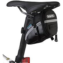 Satteltasche, Intsun 1,2L Rahmentasche Fahrradtasche Oberrohrtasche Mountainbike Bag für Mountainbikes, Fahrräder, Rennräder, Handys Ca 15 * 7.5 * 10.5cm