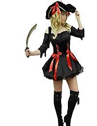 Yummy Bee - Piraten Karneval Fasching Kostüm + Hut + Schwert Entermesser Damen Größe 34 - 50