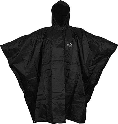 normani US Poncho Rip Stop Regenponcho in Verschiedenen Farben Farbe Black