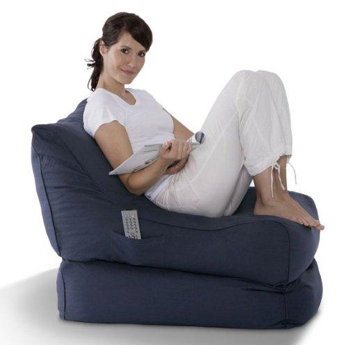 Unbekannt Smoothy Lounge Chair Supreme Sitzsack Folder blau