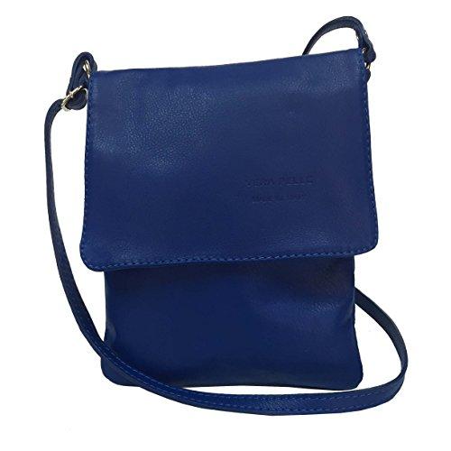 Vera Pelle , Borsa Messenger Blue