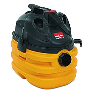 Vacuum, Wet Dry, H/D, 5.5HP, 5 Gal, 20 Ft Cord, Yellow/Black, Sold as 1 Each