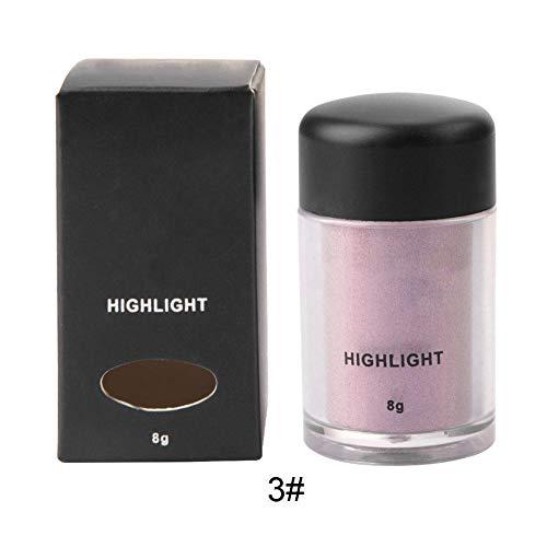Lidschattenpulver, Highlighter Shimmer Pigment Loose Puder Beauty Make-up Nude Glitter Lidschatten(03) - Eye Shadow 4 Loose Powder