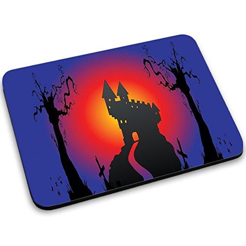 Halloween 10016, Designer Mousepad Unterlage Mauspad Maus-Pad Stark Anti Rutsch Unterseite für Optimalen Halt mit Lebhaftes Motiv Kompatibel mit Apple Magic Maus. Ideal für Gamer und für Grafikdesigner