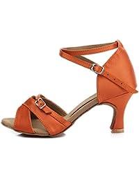 CFP - Zapatillas de danza mujer , color Dorado, talla 40 EU(6 cm)