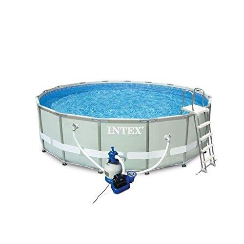 Intex 28324 Ultra Rondo I Frame Pool Set, Sandfilteranlage 4.542 l/h, Leiter, Abdeckplane, Bodenschutzplane, 488 x 122 cm - 3