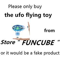 FUNCUBE Mini UFO Drone Ball Juguete Volador Helicóptero De Inducción con Infrarrojos Interactivos Aeronave Sensores Luces Giratorias De 360 °LED Juguetes Regalo (Azul)