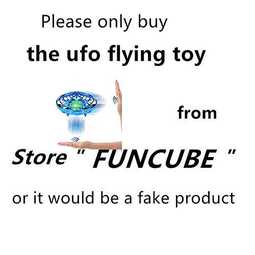 FUNCUBE Fliegendes Spielzeug UFO Ball Fliegende Untertasse Mini Drohne Handsteuerung Helikopter Infrarot Induktions Flugzeug LED Quadrocopter