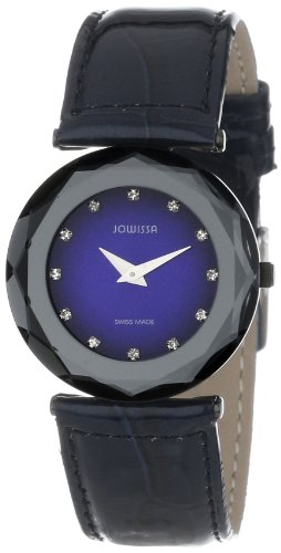 Jowissa Safira 99 Women's Quartz Watch with Blue Dial Analogue Display and Blue Leather Strap J1.017.M