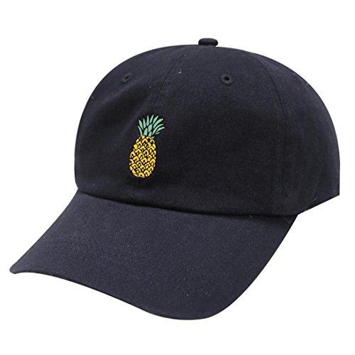 n Baseball Caps, Neueste Unisex Ananas Hüte Hip Hop Einstellbare Schirmmütze Casual Baseballmütze (Einheitsgröße, Schwarz) (Kleinkind-mädchen-piraten-outfit)