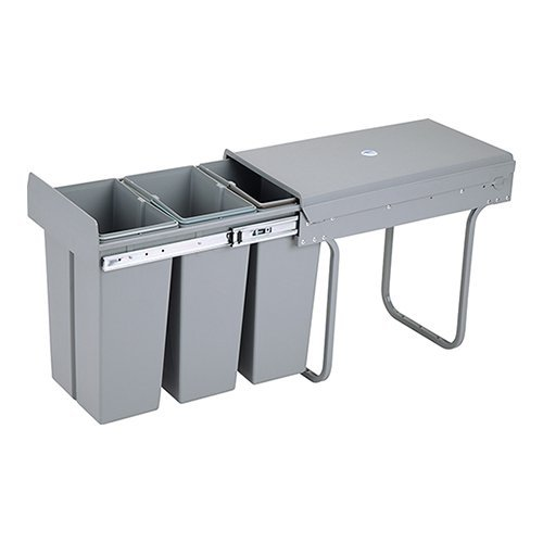 1home Recycle Pull Out Kitchen Cupboard Waste Dust Bin 30 40 Litre Soft Slow Closing