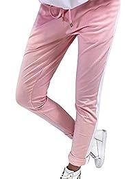 9fb13b5aab30 Coolster Damen-beiläufige Gestreifte Hohe Taillen-Hosen-Elastische  Taillen-beiläufige Hosen Lässige