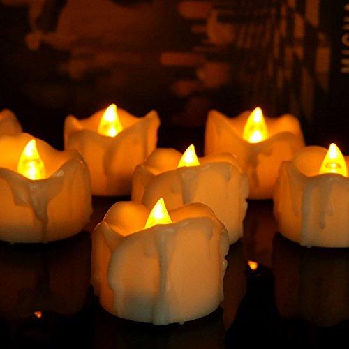 Ufamiluk LED Kerzen, 6 LED Flammenlose Kerzen, Weihnachten -