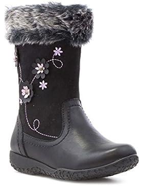 Walkright Becerro bordado negro Bota de la flor muchachas