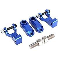 Growcolor Ya-maha Ra-ptor 350660700 ATV Kit de Descenso Delantero Trasero Ajustable para(Azul)