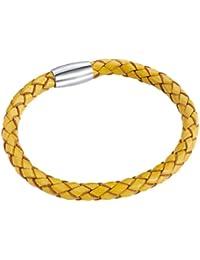 Rafaela Donata Unisex-Armband Edelstahl Leder 60907006