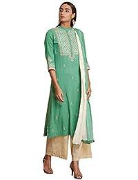 Women's Cotton Straight Salwar Suit Set