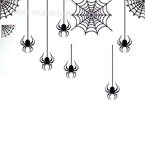Happy Halloween Spider in einem Web Wandaufkleber Allerheiligen Urlaub Party Wohnzimmer Wandbilder Kinderspielzimmer Dekor Tapete 2 78 * 56cm (Happy Post Halloween)