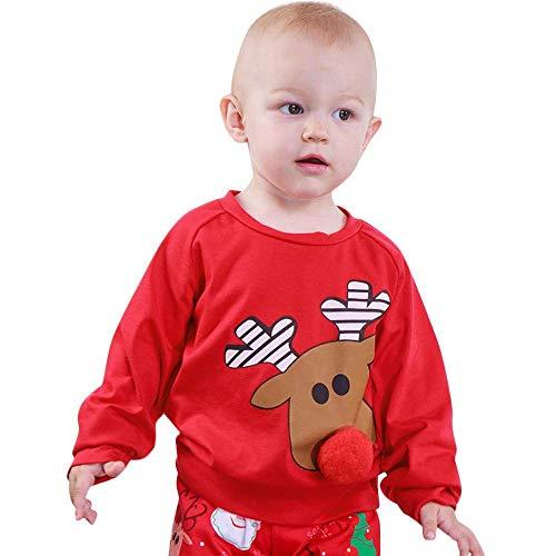Fuxitoggo Ropa infantil unisex para bebés bebés niños, lindo ciervo de dibujos...