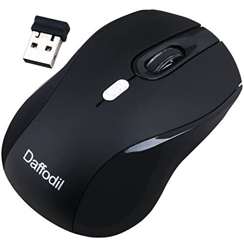 3 Button Wireless PC Mouse - Daffodil WMS335 - Control your Computer with Ease - Sensitivity Control Button
