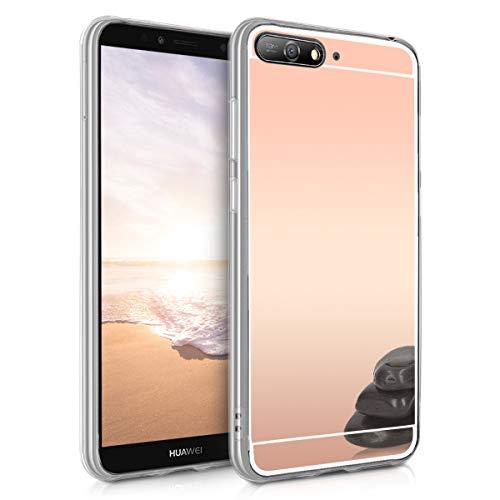 kwmobile Huawei Y6 (2018) Hülle - Handyhülle für Huawei Y6 (2018) - Handy Case in Rosegold