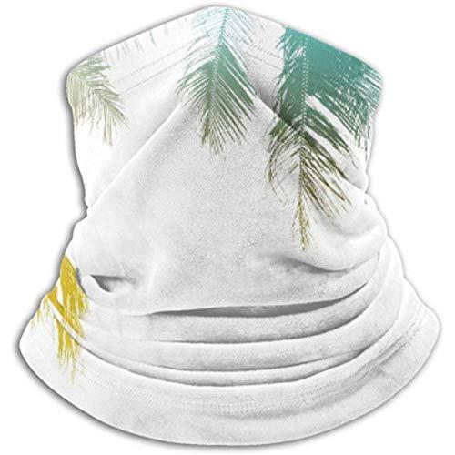 Linger In Microfaser Nackenwärmer-Nackenschutzrohr, Ohrenwärmer Stirnband Gesichtsmaske Silhouette Palm Leaf Vintage-Effektfilter