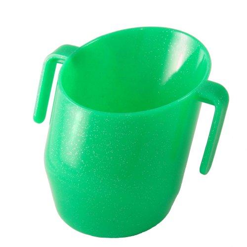 Doidy Cup 10097 Trinklernbecher, grün mit Funkeln