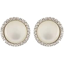 FirstBlush Metal Silver Nonpiercing Clip-on Earrings for Non Pierced Ear for Women