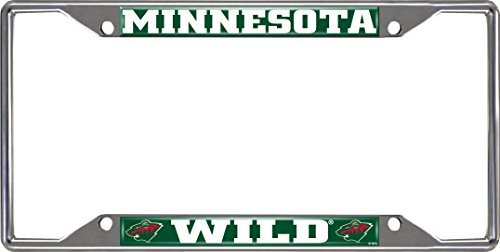 NHL Minnesota Wild License Plate Frame, 6.25 x 12.25/Small, Black by Fanmats