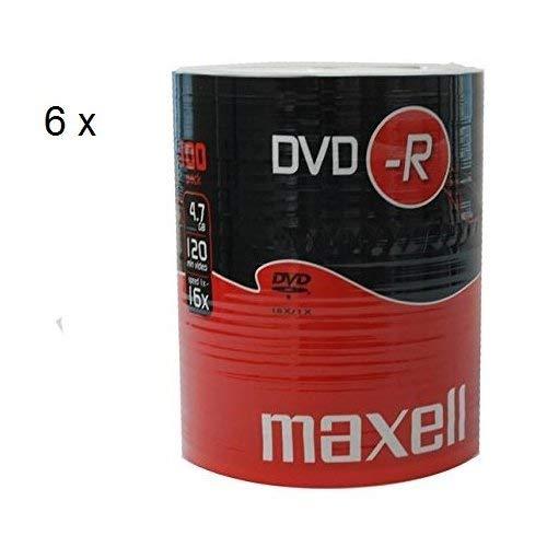Maxell 275733 DVD-R Rohlinge (16x Speed, 4,7GB, 100er Shrink)