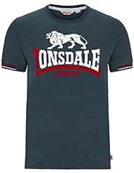 Lonsdale - Camiseta deportiva - Básico - para hombre azul marino Large