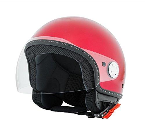 Vespa Casco, color rojo Must 880, tamaño XL