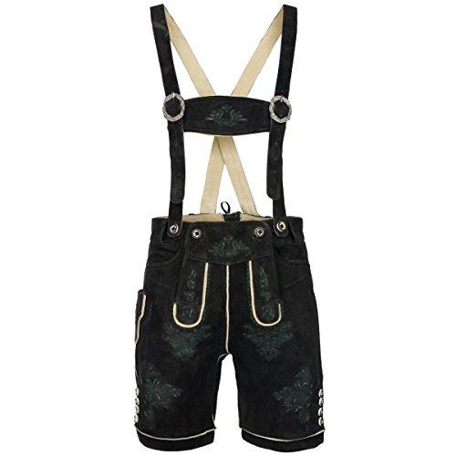 kurze Lederhose in Altschwarz von Gweih & Silk , Größe:60;Farbe:Schwarz
