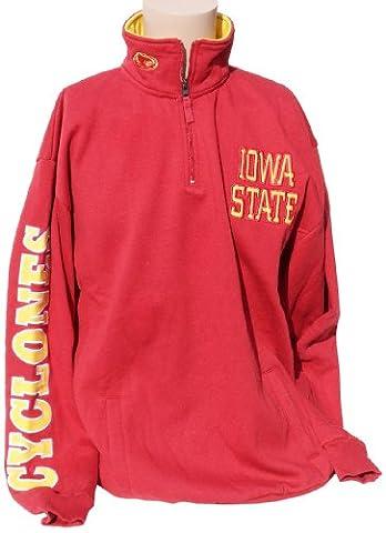 NCAA Iowa State Cyclones Quarter Zip Sweatshirt, X-Large