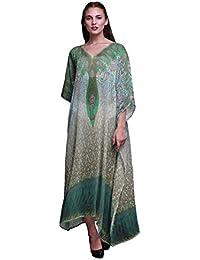 9808b6a3355 Phagun Floral   Paisley Beach Kaftan Bikini Cover up Women s Maxi Dress  Long Caftan
