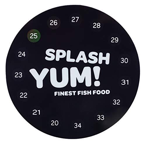 SplashYum! Aquarium Thermometer rund selbstklebend (Einzelpack)