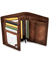 GenTo® Dublin Protección RFID y NFC - Billetera de Hombre con Compartimento para Monedas - Cartera espaciosa - Cartera de Hombre - Cartera con Caja de Regalo
