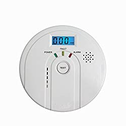 Tegollus Carbon Monoxide Detector CO Alarm and Alarm with Digital Display Electrochemical CO Sensor,Digital Display,Voice Warning and Battery Backup from Hhqing