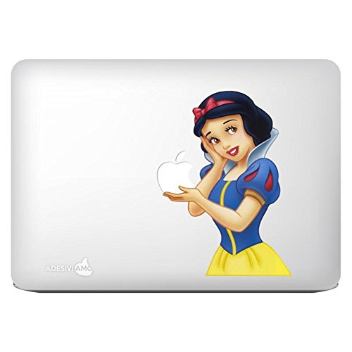Adhesivo Biancaneve Snow d blanco nieve Snow-white 2 decal sticker for apple mac macbook tutti i modelli