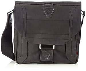 Strellson Hunter Messenger SV 4010000188 Herren Messengertaschen 25x25x7 cm (B x H x T), Schwarz (black 900)