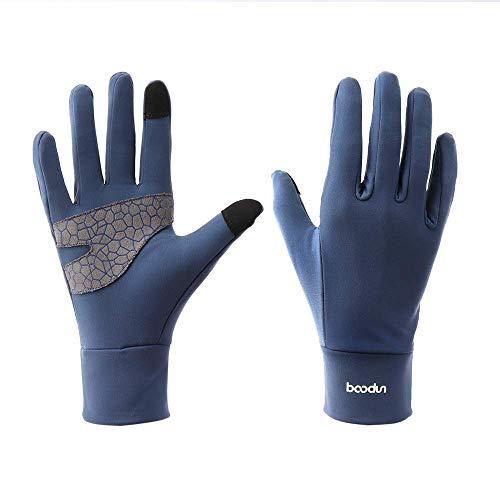Issyzone warme Laufhandschuhe Leichte Sporthandschuhe Sport Handschuhe Running Handschuhe Walking Handschuhe mit Touchscreen-Funktion für Damen und Herren,M,Blau