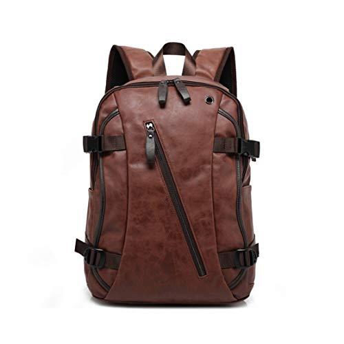 Smnyi Jugendliche Laptop Schultasche 15.6 Zoll Backpack Wasserdicht Leder Rucksack Jungen Groß Schulrucksack Mode Leicht Schulranzen