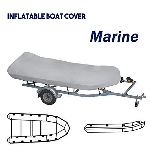 RIYIFER 2.3-4.7M Bootsabdeckung Persenning, Boot Abdeckung Reißfest Wasserdicht Marine Grade Segeltuchmaterial UV-Beständig Schützen Sie Das Boot Vor Beschädigung,Grau,length2.9~3.2M
