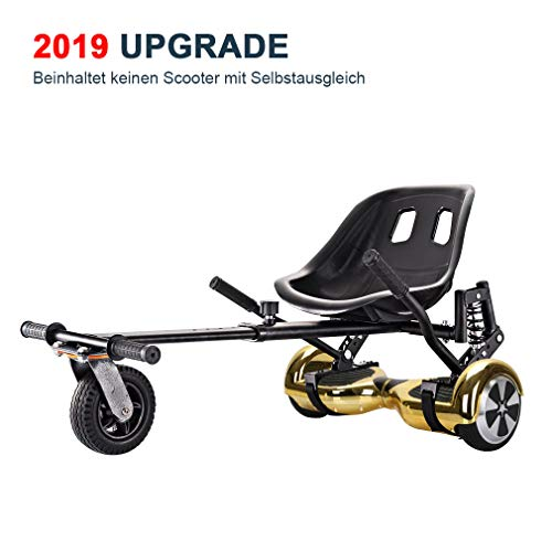 GiroSmart Hoverboard Sitz Hoverkart verstellbare Halterung für 6, 5-10 Zoll Self Balance Scooter Längenverstellbar für Erwachsene Kinder