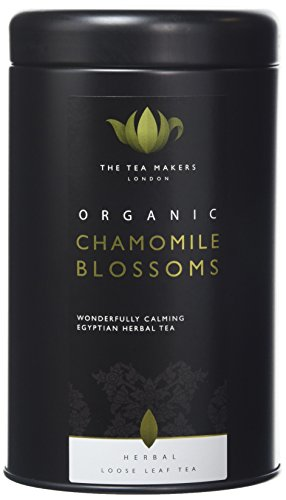 The Tea Makers of London Organic Chamomile Blossoms Herbal Loose Leaf Tea in Caddy 50 g