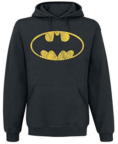 Batman Logo Kapuzenpulli schwarz (Harley Kostüm Ivy Und Quinn Poison)