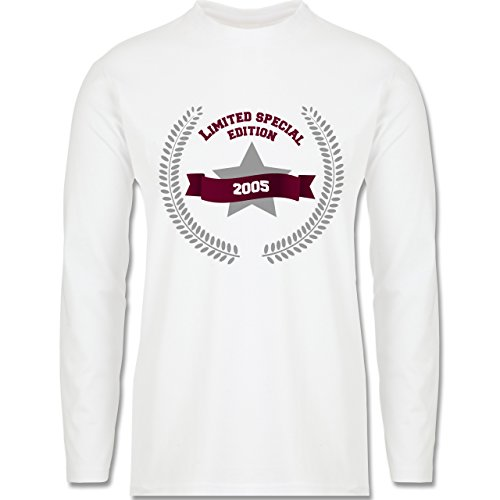 Geburtstag - 2005 Limited Special Edition - Longsleeve / langärmeliges T-Shirt für Herren Weiß